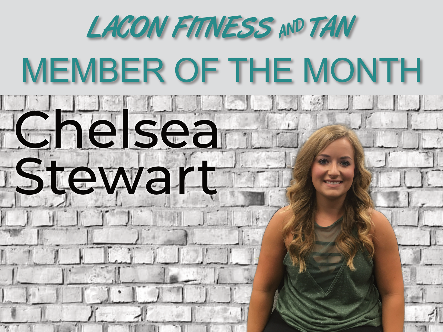 Chelsea Stewart - August Member of the Month